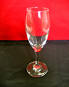 Clear glass flute
