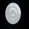 White saucer black background
